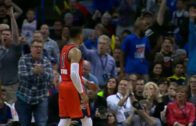 Russell Westbrook posterizes DeMarcus Cousins
