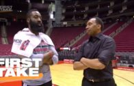 Stephen A. Smith throws up airballs & bricks shooting with James Harden