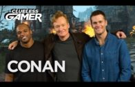 """Tom Brady & Dwight Freeney play video game """"For Honor"""" with Conan"""
