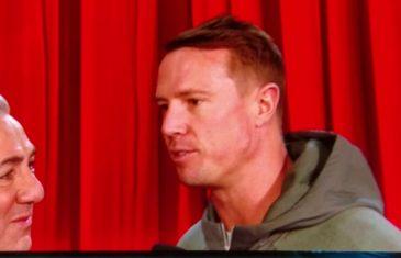 Tom Brady & Matt Ryan interviewed on stage at Super Bowl opening night (FV Exclusive)