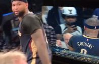"DeMarcus Cousins tells a heckler & YouTuber to ""Suck my D**k B***h"" at Lakers game"