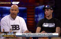 LaVar Ball & Lonzo Ball speak on a Ball reality show with Skip Bayless & Shannon Sharpe