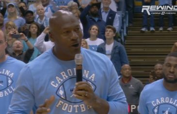 """Michael Jordan says """"the ceiling is the roof"""" in his return to North Carolina"""