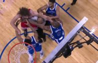 Robin Lopez & Serge Ibaka swing fists at each other in a scuffle