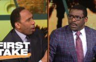 Stephen A. Smith & Michael Irvin have a heated exchange on the Dallas Cowboys