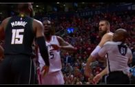 Greg Monroe & Jonas Valanciunas get into a scuffle during Game 5