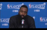 James Harden & Lou Williams speak on defeating Oklahoma City in 5 games