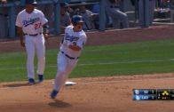 Joc Pederson belts a line drive grand slam to open it up for Los Angeles