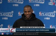 LeBron James speaks on sweeping the Indiana Pacers & the last time he lost in the first round
