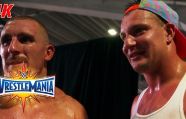 Rob Gronkowski is fired up after helping Mojo Rawley at Wrestle Mania