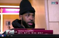 Tristan Thompson speaks on in-game argument with LeBron James