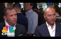 Derek Jeter & Alex Rodriguez have an awkward interview at BTIG Charity Day