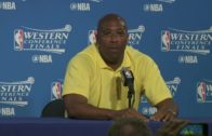 Golden State's Mike Brown speaks on almost being arrested before Game 2 of the WCF