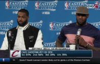 LeBron James with a savage reply to a reporter after Game 3 Cavs loss
