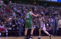 Near brawl breaks out after Kelly Oubre shoves Kelly Olynyk to the floor