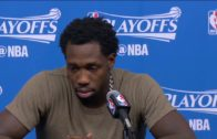 Patrick Beverley gets emotional talking about the passing of his grandfather