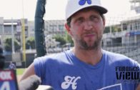 Dirk Nowitkzi on trying to hit for power in the batting cages