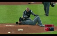 D-Backs pitcher Robbie Ray gets drilled in the head with 108 MPH line drive