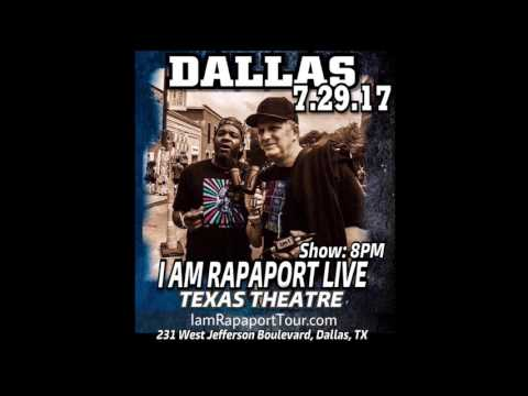 Michael Rapaport broadcasting podcast in Dallas, Texas with Kenyon Martin, Gary Payton & more