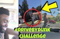 NBA players Jaylen Brown & Anthony Davis do the #DriveByDunkChallenge