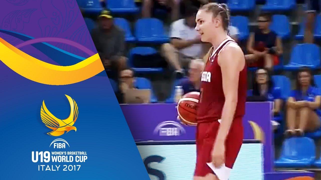 Russian FIBA U19 Women's basketball team scores on own basket