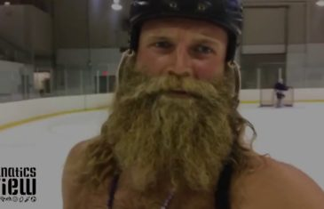 The Beard Club plays hockey in Richmond Hill, Ontario