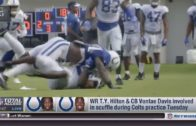 T.Y. Hilton & Vontae Davis get into a scuffle at Colts training camp