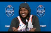 """Carmelo Anthony talks OKC Thunder, Hoodie Melo, and """"coming off the bench"""""""