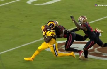 Sammy Watkins makes impossible haul with two men all over him