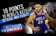 Ben Simmons drops 18 Pts, 10 Rebs, & 5 Assists in his NBA debut