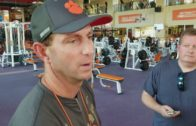 Dabo Swinney talks about his team aiding an accident victim