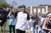 Dirk Nowitzki, Mike Modano, JJ Barea & Owen Wilson play tennis in Dallas