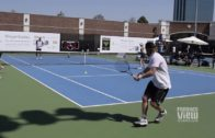 Dirk Nowitzki vs. Owen Wilson tennis match in Dallas