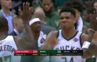 Giannis Antetokounmpo makes the steal and takes it all the way for the win