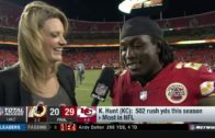 Kareem Hunt addresses the Kansas City Chiefs' comeback on Monday Night Football