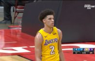 Lonzo Ball drains his first NBA 3-pointer
