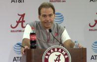 Nick Saban talks Texas A&M, ass whoopings & Alabama injury updates