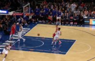 Tim Hardaway Jr. goes behind the back to Michael Beasley