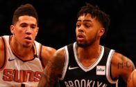 D'Angelo Russell and Devin Booker trade buckets in Brooklyn