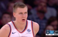 Knicks complete the comeback behind Kristaps Porzingis' career high