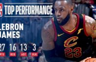 LeBron James notches triple-double in three quarters