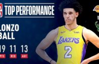 Lonzo Ball becomes youngest ever to notch triple double