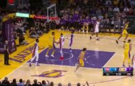 Lonzo Ball pulls off a sweet punch pass for the assist