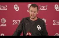 Oklahoma's Lincoln Riley speaks to the media about facing TCU