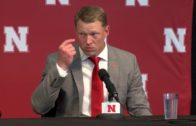A child-like Scott Frost meets with the media following his hiring at Nebraska