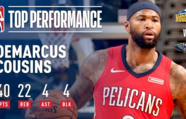 Boogie Cousins racks up impressive double double