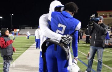 Deion Sanders & Shedeur Sanders embrace in great father & son moment