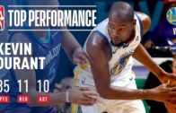 Durant notches triple-double as Curry sits