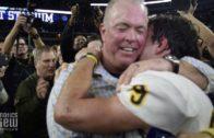 Fanatics View Live in Arlington: Jerry Jones talks with Highland Park head coach Randy Allen