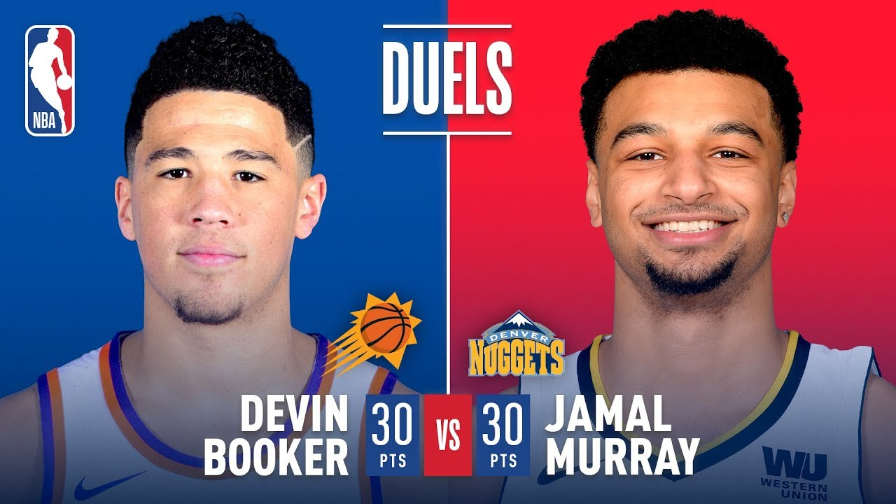 Devin Booker and Jamal Murray go back and forth in Denver